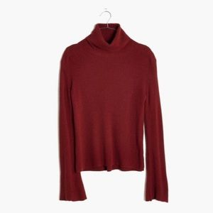 Madewell Wide Sleeve Turtleneck Sweater Alpaca